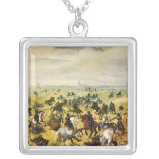 The Battle of Leckerbeetje, 1600 Silver Plated Necklace