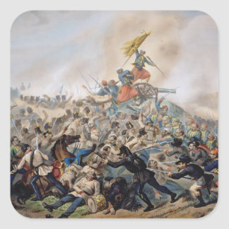 The Battle of Magenta Square Sticker