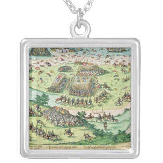 The Battle of Moncontour, 3rd October 1569 Silver Plated Necklace