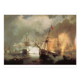 The Battle of Navarino by Ivan Aivazovsky Postcard