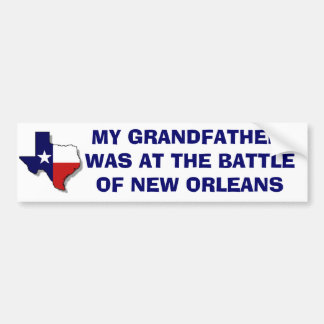 THE BATTLE OF NEW ORLEANS BUMPER STICKER