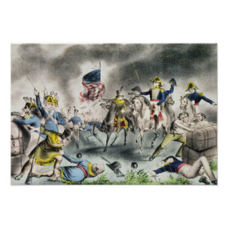The Battle of New Orleans, pub.Nathaniel Currier Poster