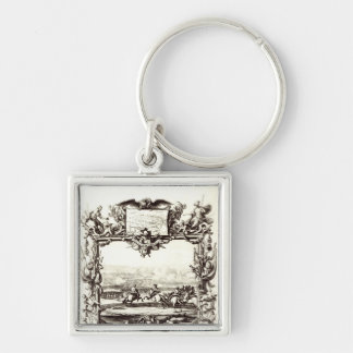 The Battle of Oudenaarde Silver-Colored Square Key Ring