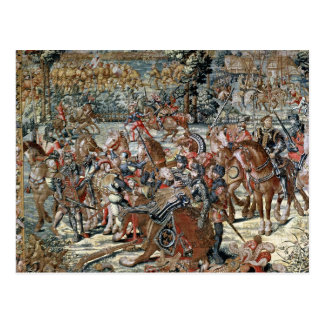 The Battle of Pavia. Postcard