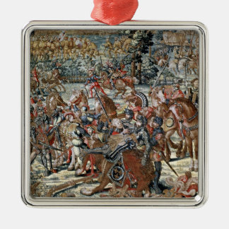 The Battle of Pavia. Silver-Colored Square Decoration
