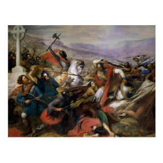 The Battle of Poitiers, won by Charles Martel Postcard