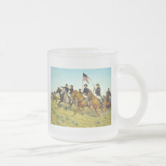 The Battle of Prairie Dog Creek by Ralph Heinz Frosted Glass Mug