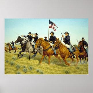 The Battle of Prairie Dog Creek by Ralph Heinz Poster