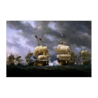 The Battle of Quiberon Bay by Nicholas Pocock Acrylic Print