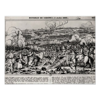 The Battle of Sadowa, 3rd July 1866 Poster