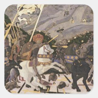 The Battle of San Romano, c.1438-40 Square Sticker