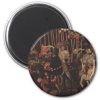 The Battle of San Romano Part III 6 Cm Round Magnet