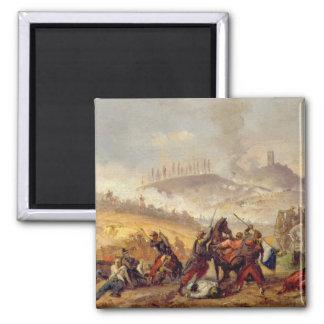 The Battle of Solferino Square Magnet