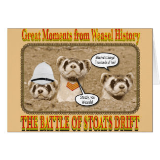 The Battle of Stoats Drift Notecard Greeting Card