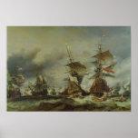 The Battle of Texel, 29 June 1694 Print