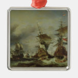The Battle of Texel, 29 June 1694 Silver-Colored Square Decoration