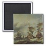 The Battle of Texel, 29 June 1694 Square Magnet