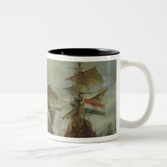 The Battle of Texel, 29 June 1694 Two-Tone Coffee Mug