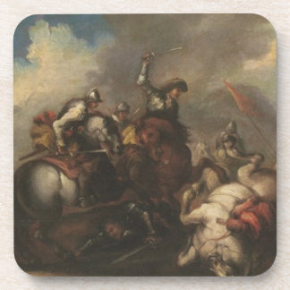 The Battle of the Cavaliers (oil on canvas) Coasters