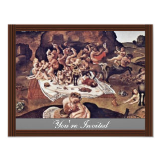 The Battle Of The Centaurs And Lapiths By Piero 11 Cm X 14 Cm Invitation Card