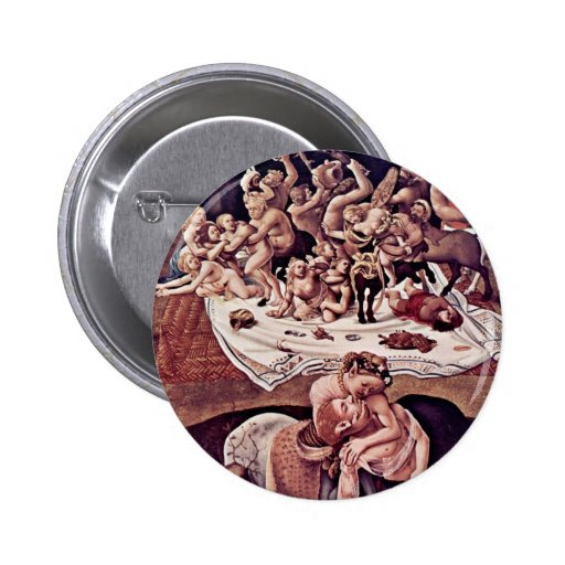 The Battle Of The Centaurs And Lapiths Detail 6 Cm Round Badge