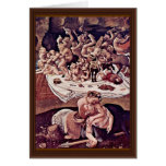 The Battle Of The Centaurs And Lapiths Detail Greeting Card