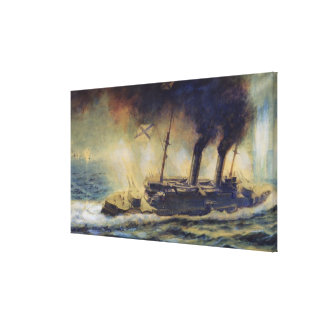 The Battle of the Gulf of Riga, August 1915, 1940 Canvas Print