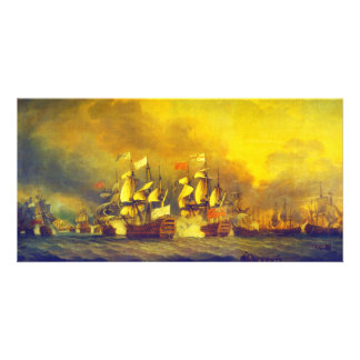 The Battle of the Saintes by Thomas Mitchell 1782 Personalised Photo Card