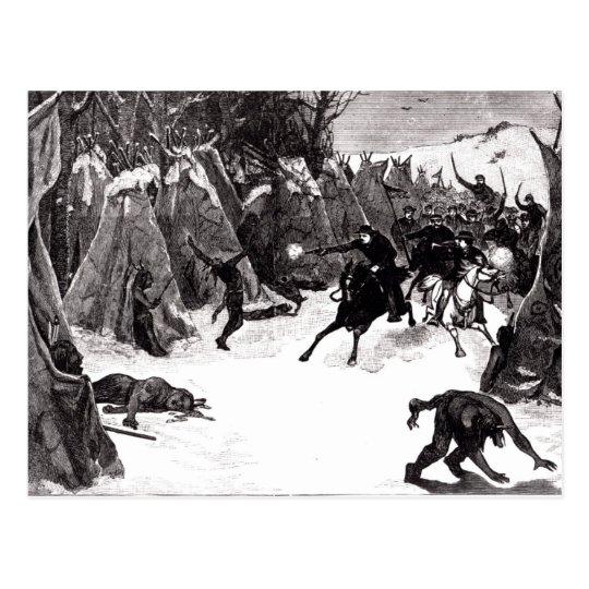 The Battle of the Washita Postcard