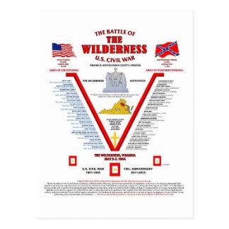 THE BATTLE OF THE WILDERNESS U.S.CIVIL WAR POSTCARD