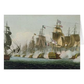 The Battle of Trafalgar, 21st October 1805, engrav Card