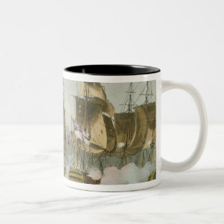 The Battle of Trafalgar, 21st October 1805, engrav Two-Tone Coffee Mug