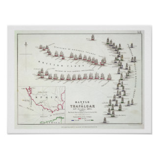 The Battle of Trafalgar, 21st October 1805, The Br Poster