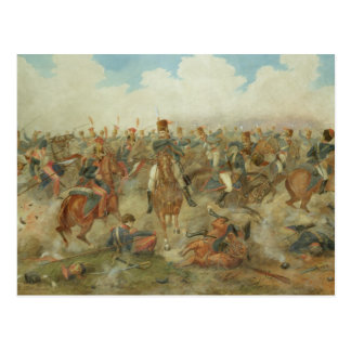 The Battle of Waterloo, June 18th 1815 (w/c on pap Postcard