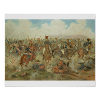 The Battle of Waterloo, June 18th 1815 (w/c on pap Poster