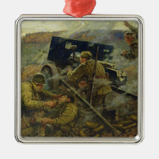 The Battle of Yelnya near Moscow in 1941 Christmas Ornament