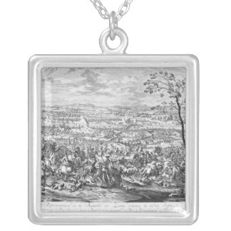 The Battle of Zenta, 1697 Silver Plated Necklace