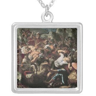 The Battle Square Pendant Necklace