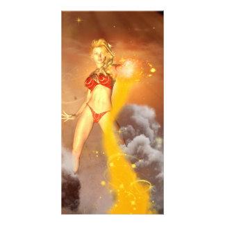 The bautiful mystical elf photo card template