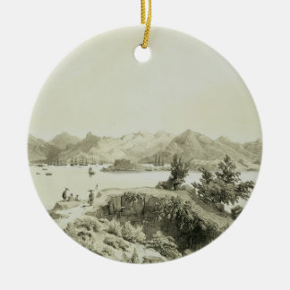 The Bay and Island of Hong Kong, plate 4 from 'Ske Christmas Ornament