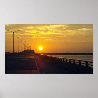 The Bay Bridge at Sunset Poster