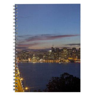 The Bay Bridge from Treasure Island 2 Spiral Notebook