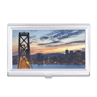 The Bay Bridge from Treasure Island Business Card Holder
