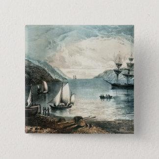 The Bay of Annapolis, c.1880 15 Cm Square Badge