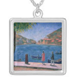 The Bay of Balaklava, 1927 Silver Plated Necklace