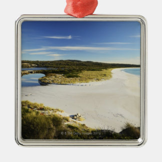 The Bay of Fires on Tasmania's East Coast Silver-Colored Square Decoration
