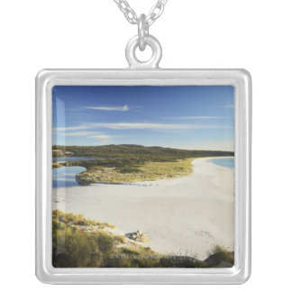 The Bay of Fires on Tasmania's East Coast Silver Plated Necklace