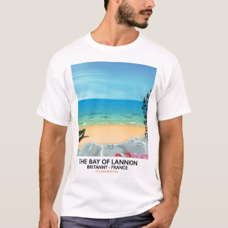 The Bay of Lannion France travel poster T-Shirt