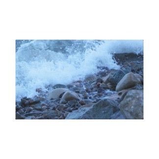 the Bay Rocks Canvas Print