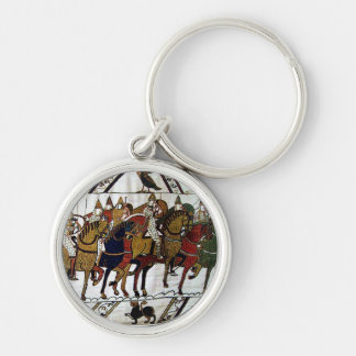 The Bayeux Tapestry-11th Century Silver-Colored Round Key Ring